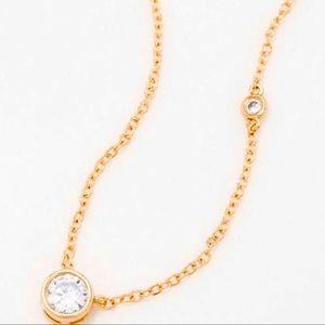 NWT Kenneth Jay Lane Gold Bezel Necklace